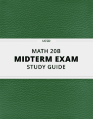 [MATH 20B] - Midterm Exam Guide - Everything you need to know! (10 pages long)
