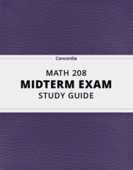 [MATH 208] - Midterm Exam Guide - Ultimate 68 pages long Study Guide!