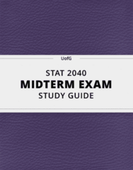 [STAT 2040] - Midterm Exam Guide - Ultimate 26 pages long Study Guide!