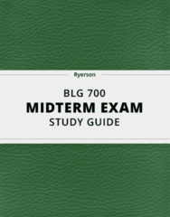 [BLG 700] - Midterm Exam Guide - Comprehensive Notes for the exam (58 pages long!)