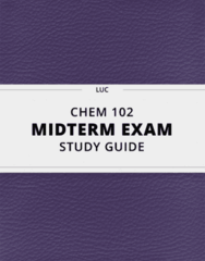 [CHEM 102] - Midterm Exam Guide - Comprehensive Notes for the exam (15 pages long!)