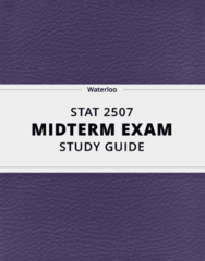 [STAT 2507] - Midterm Exam Guide - Ultimate 32 pages long Study Guide!