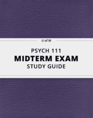 [PSYCH 111] - Midterm Exam Guide - Everything you need to know! (77 pages long)
