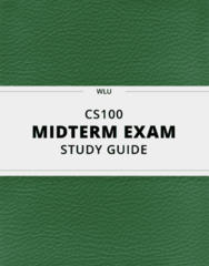 [CS100] - Midterm Exam Guide - Ultimate 13 pages long Study Guide!
