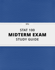 [STAT 100] - Midterm Exam Guide - Everything you need to know! (37 pages long)