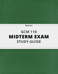 [GCM 110] - Midterm Exam Guide - Ultimate 22 pages long Study Guide!