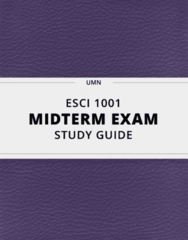 [ESCI 1001] - Midterm Exam Guide - Comprehensive Notes for the exam (58 pages long!)