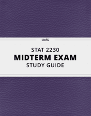 [STAT 2230] - Midterm Exam Guide - Ultimate 16 pages long Study Guide!