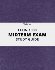 [ECON 1000] - Midterm Exam Guide - Comprehensive Notes for the exam (141 pages long!)