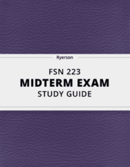 [FSN 223] - Midterm Exam Guide - Ultimate 25 pages long Study Guide!