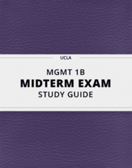 [MGMT 1B] - Midterm Exam Guide - Ultimate 37 pages long Study Guide!