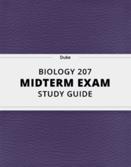 [BIOLOGY 207] - Midterm Exam Guide - Ultimate 23 pages long Study Guide!