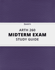 [ARTH 260] - Midterm Exam Guide - Comprehensive Notes for the exam (29 pages long!)