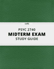 [PSYC 2740] - Midterm Exam Guide - Everything you need to know! (62 pages long)