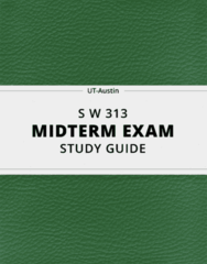 [S W 313] - Midterm Exam Guide - Everything you need to know! (22 pages long)