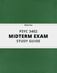 [PSYC 3402] - Midterm Exam Guide - Everything you need to know! (35 pages long)