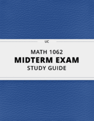 [MATH 1062] - Midterm Exam Guide - Comprehensive Notes for the exam (25 pages long!)