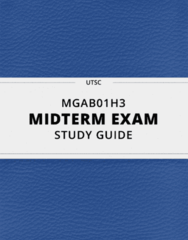 [MGAB01H3] - Midterm Exam Guide - Comprehensive Notes for the exam (14 pages long!)