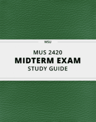 [MUS 2420] - Midterm Exam Guide - Comprehensive Notes for the exam (23 pages long!)