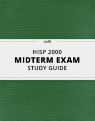 [HISP 2000] - Midterm Exam Guide - Comprehensive Notes for the exam (15 pages long!)