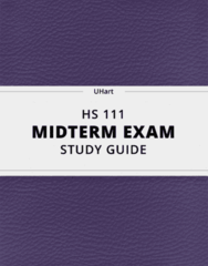 [HS 111] - Midterm Exam Guide - Ultimate 13 pages long Study Guide!