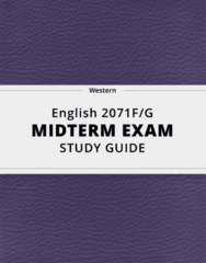 [English 2071F/G] - Midterm Exam Guide - Comprehensive Notes for the exam (21 pages long!)