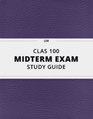 [CLAS 100] - Midterm Exam Guide - Comprehensive Notes for the exam (73 pages long!)