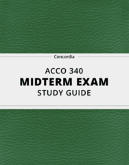 [ACCO 340] - Midterm Exam Guide - Comprehensive Notes for the exam (70 pages long!)
