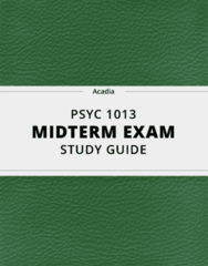 [PSYC 1013] - Midterm Exam Guide - Everything you need to know! (176 pages long)