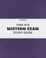[FINA 410] - Midterm Exam Guide - Comprehensive Notes for the exam (159 pages long!)