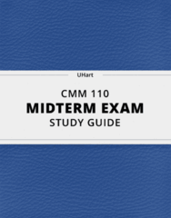 [CMM 110] - Midterm Exam Guide - Everything you need to know! (49 pages long)