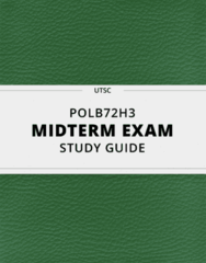[POLB72H3] - Midterm Exam Guide - Everything you need to know! (24 pages long)