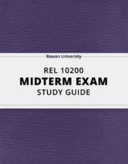 [REL 10200] - Midterm Exam Guide - Everything you need to know! (28 pages long)