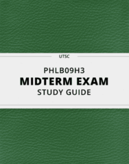 [PHLB09H3] - Midterm Exam Guide - Comprehensive Notes for the exam (17 pages long!)