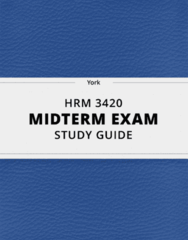 [HRM 3420] - Midterm Exam Guide - Ultimate 13 pages long Study Guide!
