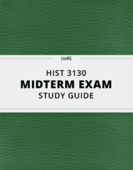 [HIST 3130] - Midterm Exam Guide - Everything you need to know! (11 pages long)