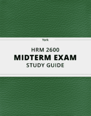 [HRM 2600] - Midterm Exam Guide - Everything you need to know! (27 pages long)