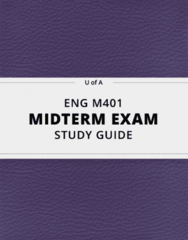 [ENG M401] - Midterm Exam Guide - Comprehensive Notes for the exam (18 pages long!)