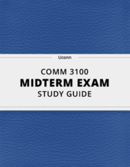 [COMM 3100] - Midterm Exam Guide - Ultimate 14 pages long Study Guide!