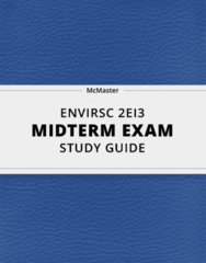 [ENVIRSC 2EI3] - Midterm Exam Guide - Ultimate 29 pages long Study Guide!
