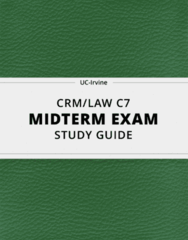 [CRM/LAW C7] - Midterm Exam Guide - Ultimate 30 pages long Study Guide!