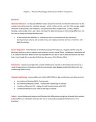 Psychology 2030A/B Midterm: Psychology 2030A - Midterm 1