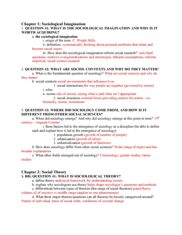 sociology 101 midterm Study flashcards on sociology midterm exam chapters 1-12 at cramcom quickly memorize the terms, phrases and much more cramcom makes.