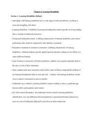 SPED 08130 Lecture Notes - Lecture 6: Reading Disability, Learned Helplessness, Graphic Organizer