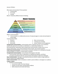 COMM 110 Lecture Notes - Lecture 1: Interpersonal Communication, Mass Communication, Small Talk