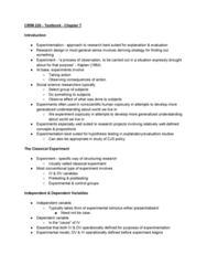 CRIM 220 Chapter Notes - Chapter 7: Statistical Conclusion Validity, Observer-Expectancy Effect, Design Of Experiments