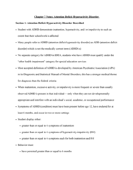 SPED 08130 Lecture Notes - Lecture 7: Attention Deficit Hyperactivity Disorder, Behaviour Therapy, Attention