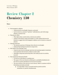 CHEM 130 Chapter 2: Chapter 2 Review