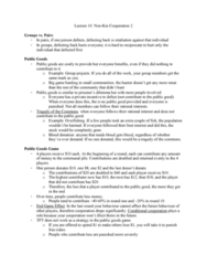 PSYC 3100 Lecture Notes - Lecture 10: Stotting, Public Goods Game, Big-Game Hunting