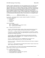 SOC 808 Study Guide - Final Guide: Energy Returned On Energy Invested, Forest Gardening, World Food Programme